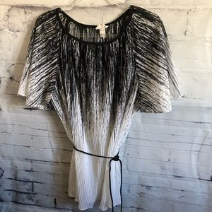 Vintage Accordion Pleated Top sz. 44
